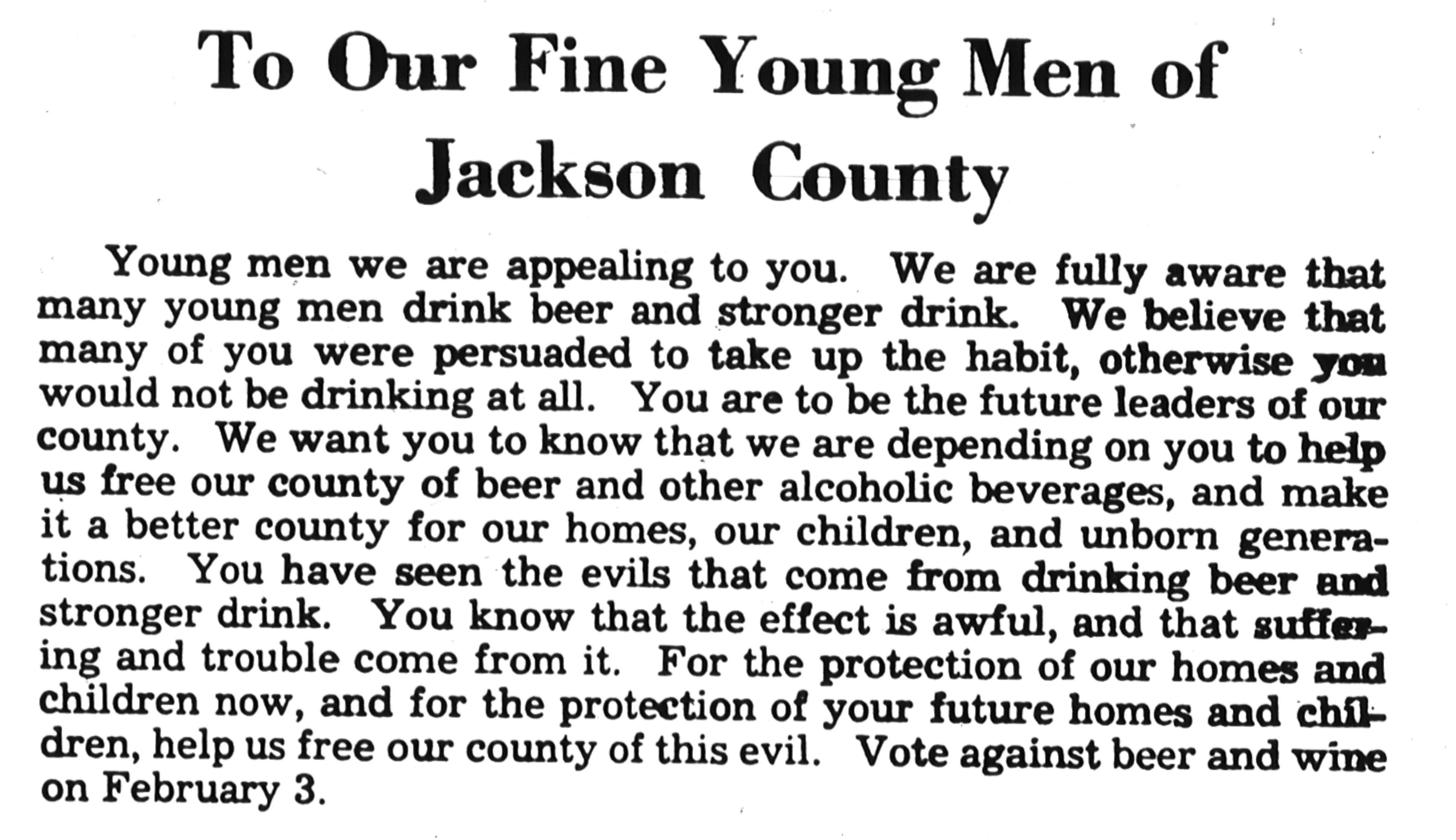 1948 Prohibition ad