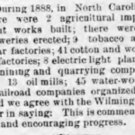 1889 report on breweries in NC