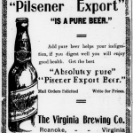 1906 ad for Virginia Brewing Co.