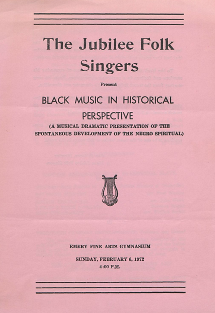 Jubilee Folk Singers Program