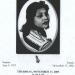 Cover of funeral program for Gladys Lyon Burnette
