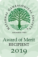 National Genealogical Society Award of Merit 2019