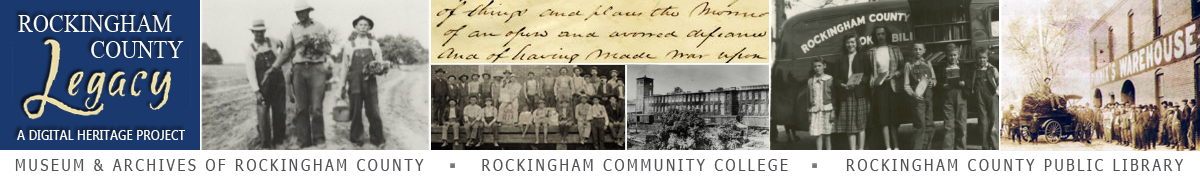 Rockingham County Legacy: A Digital Heritage Project Banner