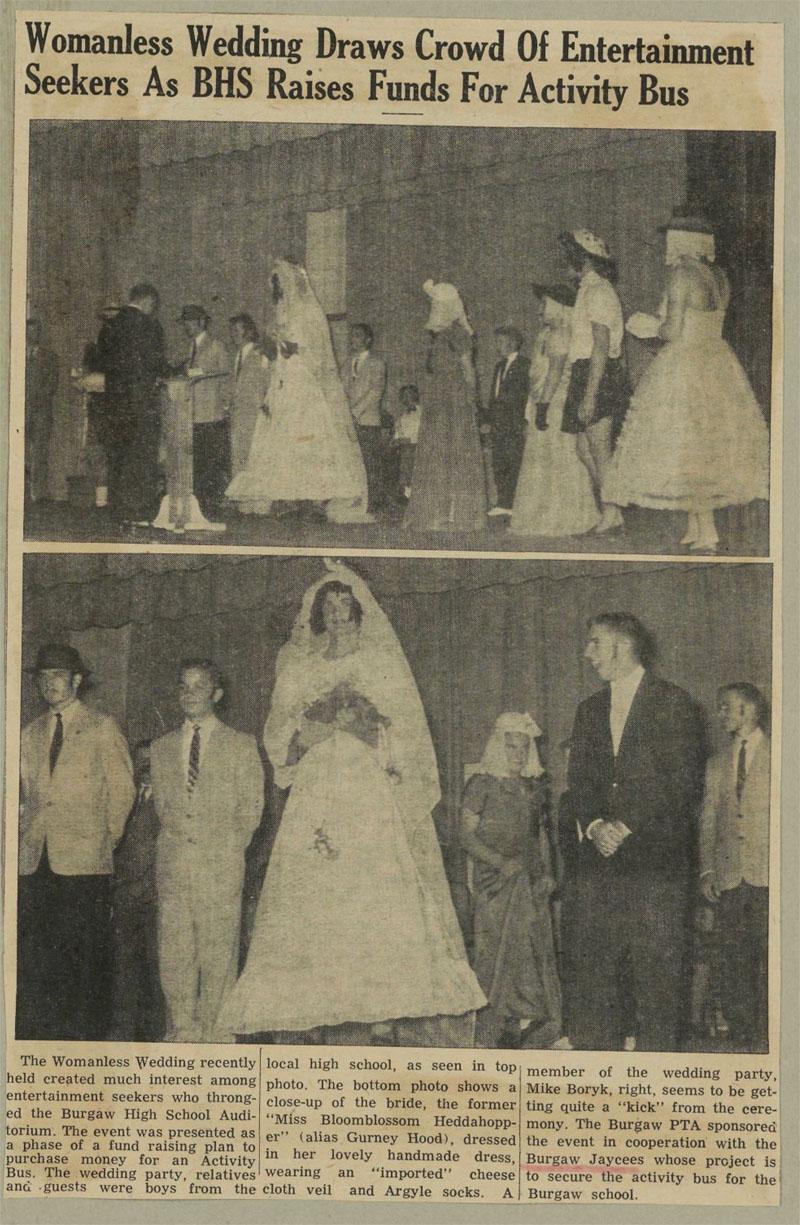 Womanless Weddings