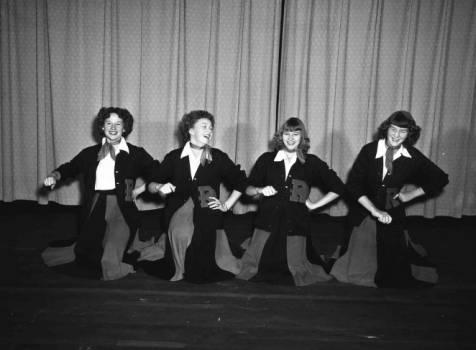 Rosman High School cheerleading, February 2, 1954