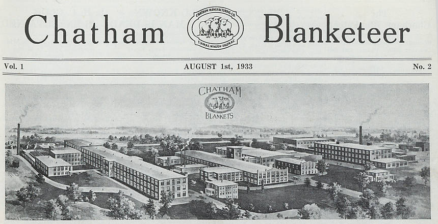 Chatham Blanketeer Textile Newsletter Now Available Online