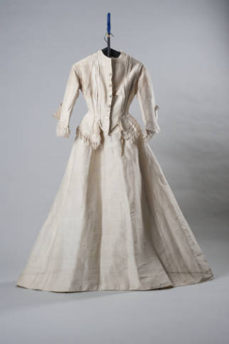 Two-piece Wedding Costume worn by Mary Francis Ellington Reid, 1872