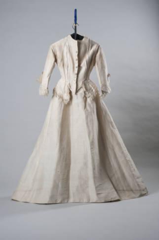 Two-piece Wedding Costume worn by Mary Francis Ellington Reid, 1872