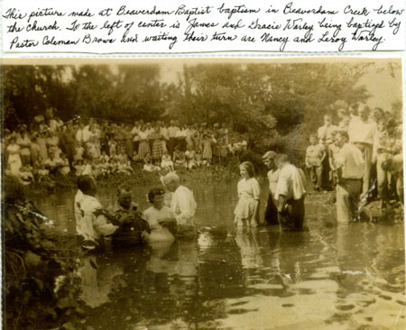 Beaverdam Church Baptism