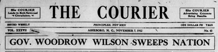 Early Issues of the Asheboro Courier Now Available Online