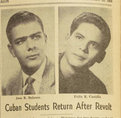 Brevard College Students on the Cuban Revolution, 1959