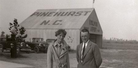 Amelia Earhart in Southern Pines