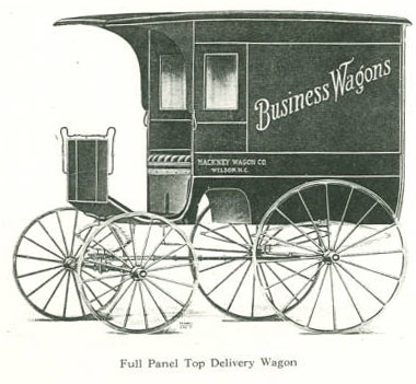 Full Panel Top Delivery Wagon, Hackney Brothers Body Company