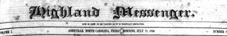 Earliest Asheville Newspaper Now Available On DigitalNC