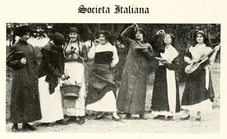 Societa Italiana, Chowan College, 1914