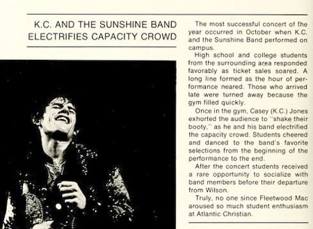 K.C. Wows 1977 College Crowd in Wilson, Buffet Does Not