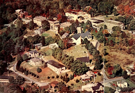 Aerial view of the Lees-McRae campus, 1969.