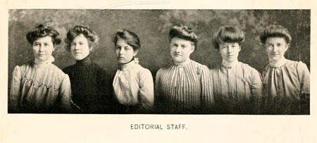 Peace College yearbook staff, 1902