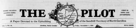 Early Issues of the Southern Pines Pilot (1929-1942) Now Available Online