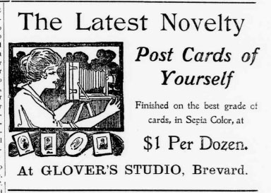 Real Photo Postcards Advertised in 1906