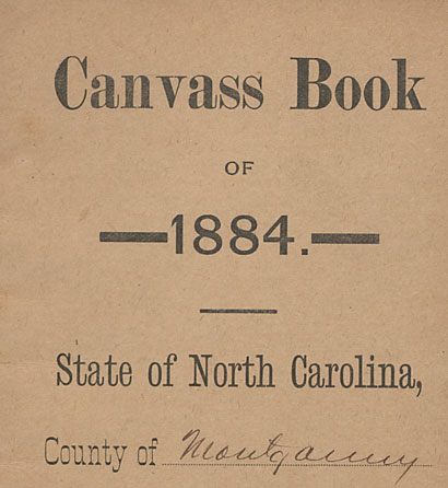 Canvass Books from Montgomery County