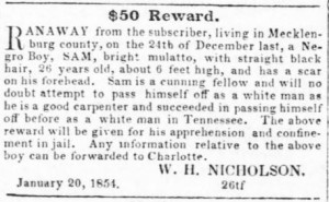 From the Western Democrat, 1854.