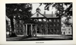 South Building and the Old Well, 1909. Courtesy of the North Carolina Collection, UNC-Chapel Hill.