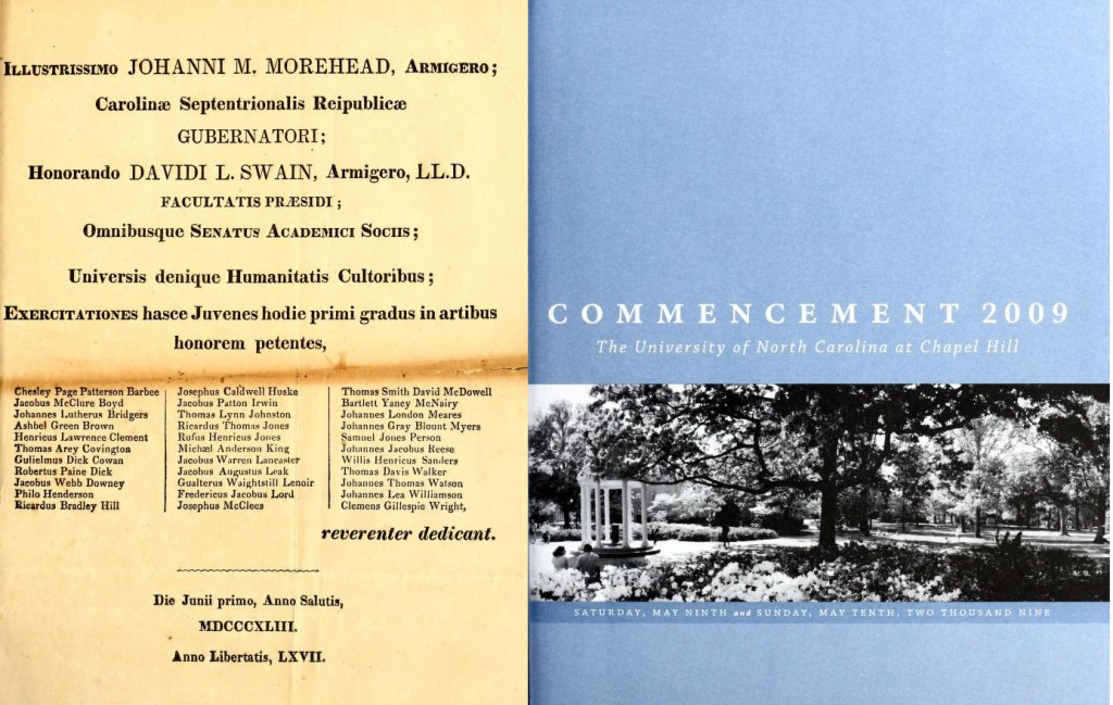 UNC Commencement Covers
