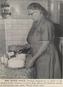 Mrs. Marie Fogle, Firestone News, 07-25-1953