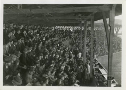 Grand Stands in the Baseball Field