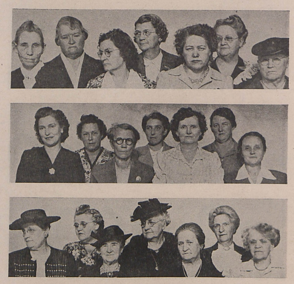 Mothers of Servicemen portraits, May 1945.