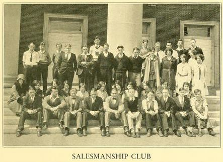 "from 1929 R.J. Reynolds High School yearbook ""Black and Gold"""