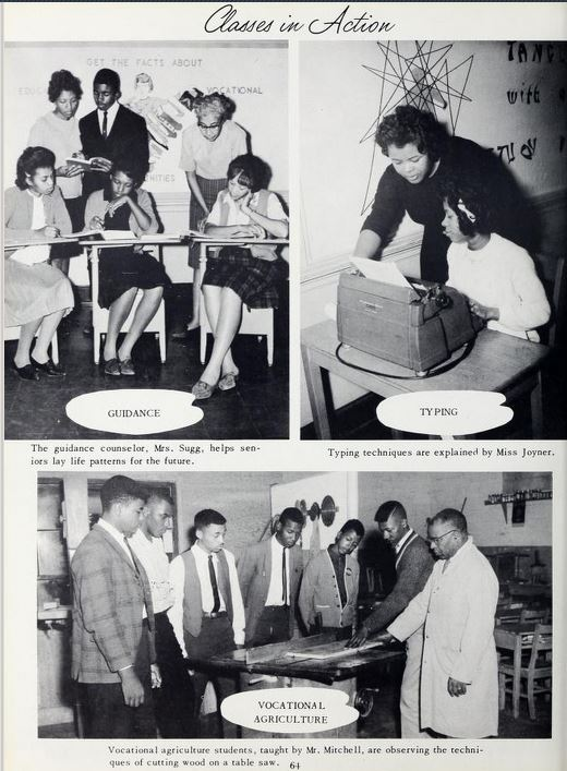 Some of the classes offered at P.W. Moore Junior-Senior High School in 1963