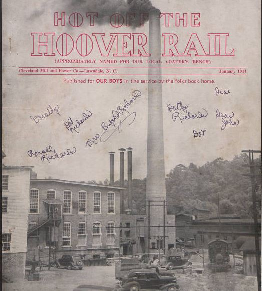 Cover of the January 1944 Hot Off the Hoover Rail.  The image is of the power company that sponsored the publication.