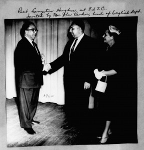Poet Langston Hughes and Rudolph Jones, 1960