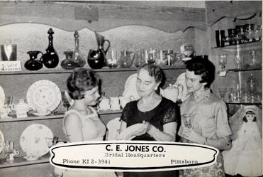 C.E. Jones Co. Bridal Headquarters ad, in the Pittsboro High School 1960 The Dragonian