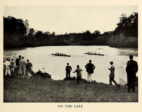 Lake on Asheville School's campus, from the 1928 Asheville School yearbook