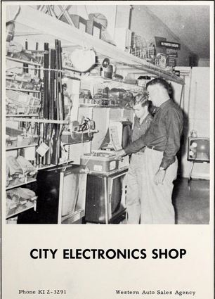 City Electronics Shop ad in Pittsboro High School's 1960 The Dragonian