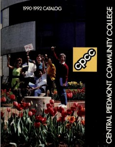 Cover of the 1990-1992 course catalog for Central Piedmont Community College.