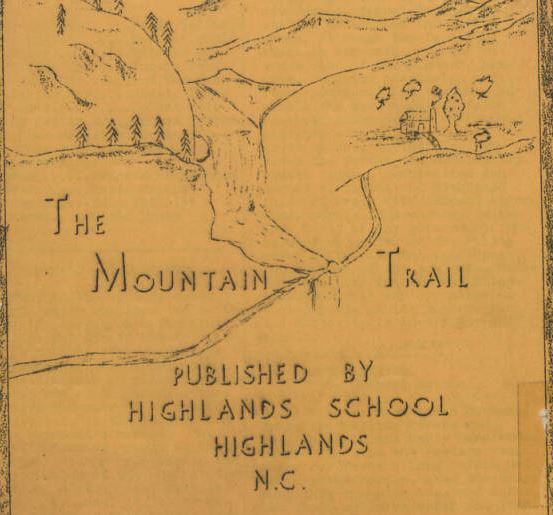 The title cover of the April 10, 1942 issue of The Mountain Trail, published by Highlands High School