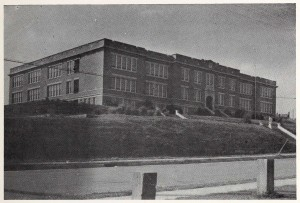 Washington High School building, 1945.