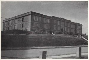 Washington High School building, 1945.