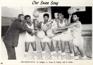 Shepard High School boys' basketball seniors, 1970.
