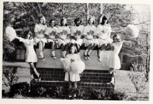 Aycock Junior High School Cheerleaders, 1969.