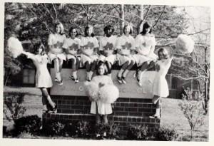 Aycock Junior High School Cheerleaders, 1969.