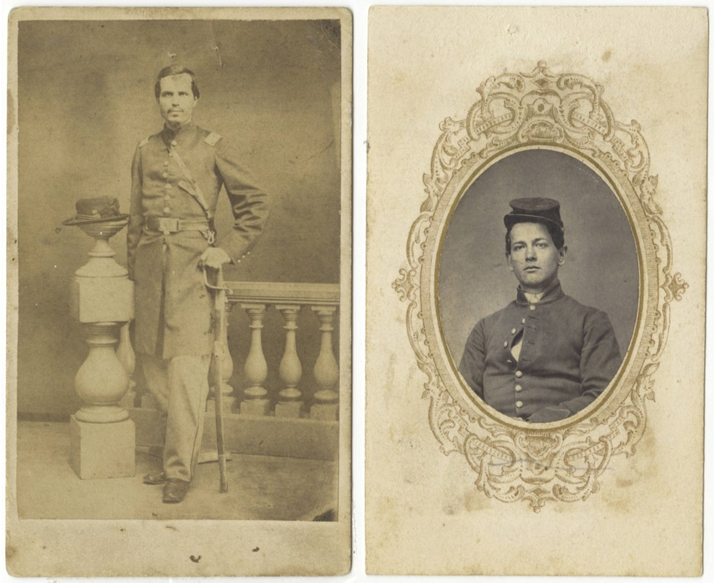 Brothers James Read Jones, left, and Will Jones (circa 1861-1862). Their letters, among others, comprise the Jones Family Letter Collection from the Stanly County Museum.