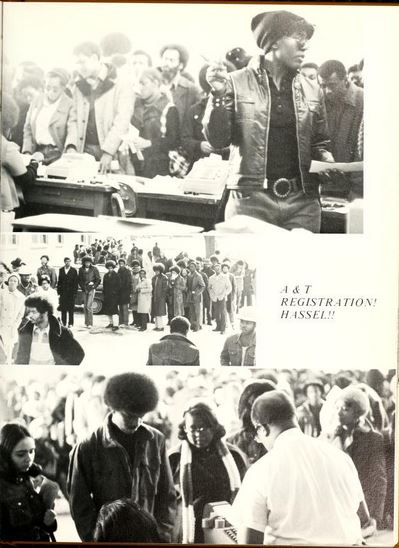 At least they looked good while waiting in line for registration at NC Agricultural and Technical State University in 1974. from 1974 Ayantee