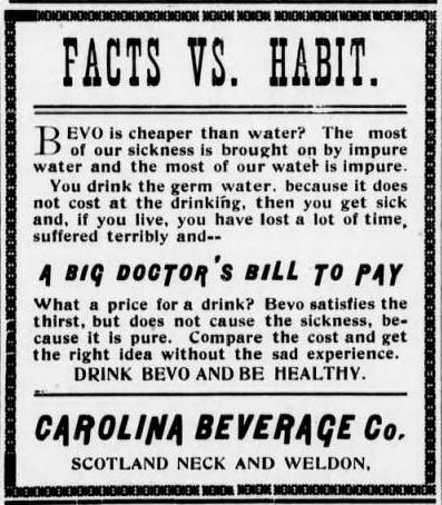 Bevo Advertisement, Roanoke News 1920-01-29