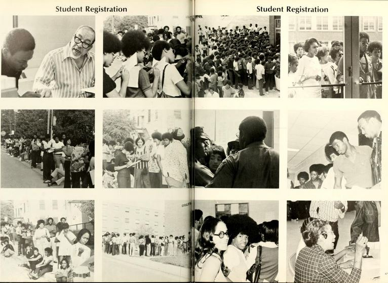Class registration at Winston Salem State University, 1973. From 1973 The New Ram