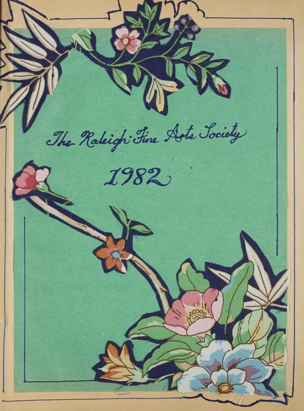 Raleigh Fine Arts Society Scrapbook, 1982